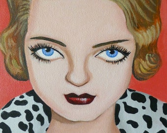 Bette Davis eyes, A portrait of the fabulous actress painted in acrylic on canvas