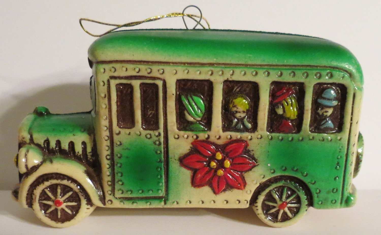 Vintage school bus christmas ornament by innerartpeace on etsy