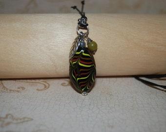 Black Ceramic Metal Necklace