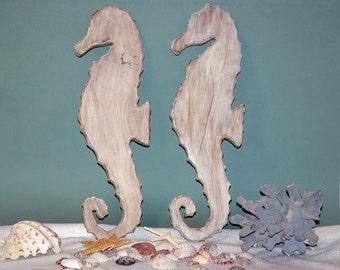 Rustic Wooden Seahorses
