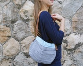 DAY BAG - grey and light blue