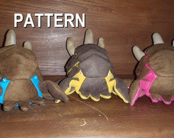 Infected fest face parody plush, sewing pattern