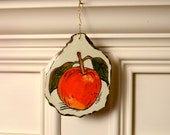 Little Red Apple, Ceramic Ornament for Your Kitchen Wall