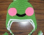 Frog Earflap Hat w/Ties