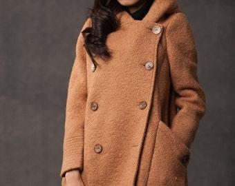Moss Green jacket short coat wool coat Womens jackets