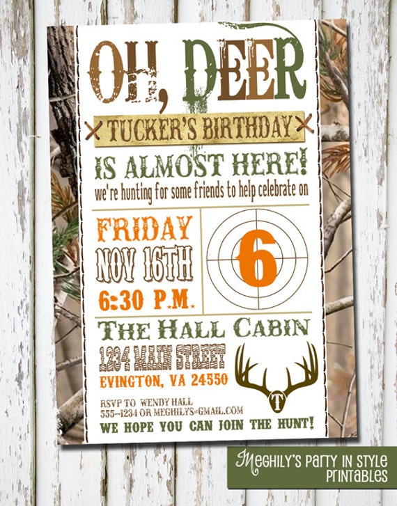 Hunting Theme - Birthday Invitation