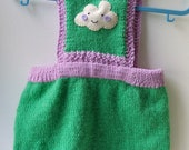 Babies playsuit, hand knit (age 3-6 mths)