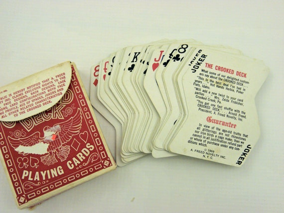 Vintage Playing Cards 1969 Crooked Deck By A Freed Novelty Inc. Complete deck