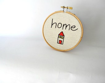 "home hoop wall art,4"" embroidery hoop home decor,kids room decor"