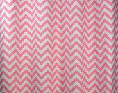 Baby Pale Pink White Chevron Zig Zag Curtains - Grommet - 84 96 108 or 120 Long by 25 or 50 Wide - Optional Blackout or Cotton Lining