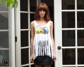 Sedona Arizona Coyote Fringe Tank Top