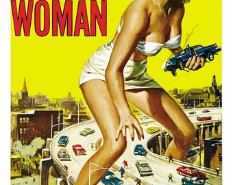 Attack Of The 50 Foot Woman Movie Theater Vintage Digitally Remastered Fine Art Print / Poster