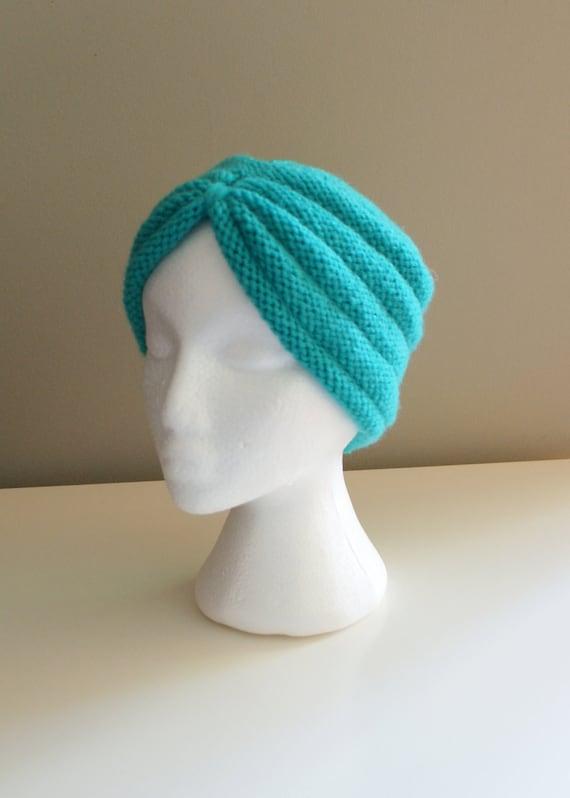 DIY Knitting PATTERN Turban Headband Hat and Multi-way