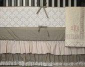 4 Piece Custom Crib Bedding w/FREE monogram