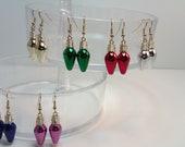 Christmas Light Ornament Earrings