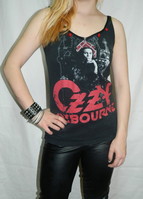 Prince of Darkness- Ozzy Osbourne studded/lace tank top