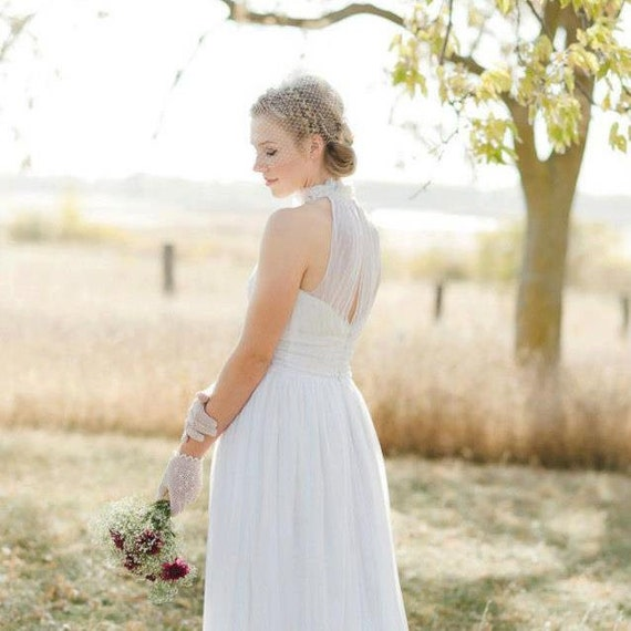 Custom/Handmade Vintage Laces Wedding Dress, Designed with Your Ideas