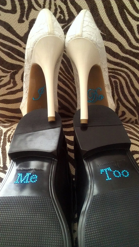 Items similar to I Do and Me Too Shoe Stickers Clear ...