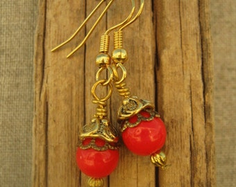 Victorian Coral Earrings