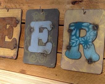 6 Metal Letters or Numbers