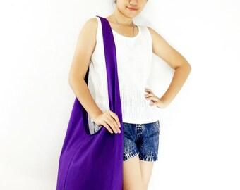 Handbags Canvas Bag Cotton bag Shoulder bag Sling bag Hobo bag Boho bag Messenger bag Tote bag Crossbody bag Purse Violet