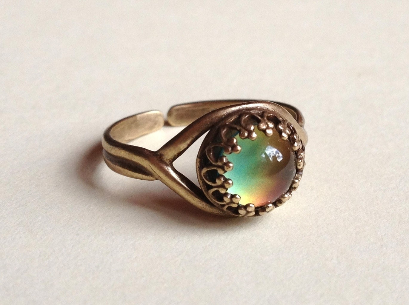 mood ring high quality 7 mm top quality antique brass