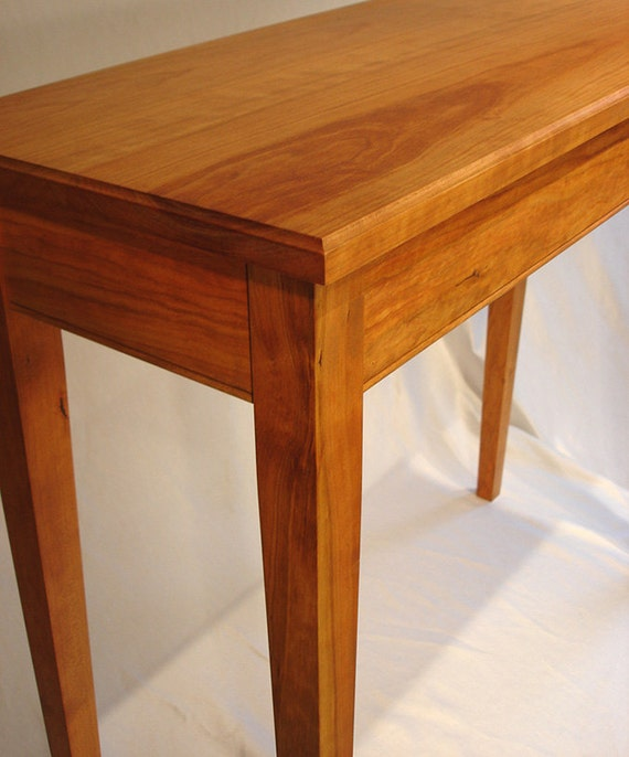 Foyer Table Cherry : Solid cherry table for sofa foyer hall natural finish free
