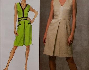 "Dress & Belt by Badgley Mischka Vogue Platinum Pattern 1026 Uncut   Sizes 6-8-10  Bust 30.5-31.5-32.5"""