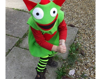 child's monster costume green red  for baby and toddler