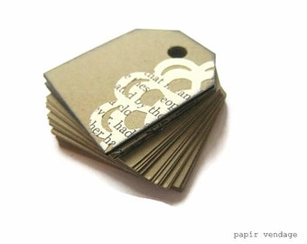 Vintage Doily Kraft Tags,  Kraft Tag & Vintage Doilies,Eco- Tags, Vintage Wedding Tags, Spring Wedding Tags