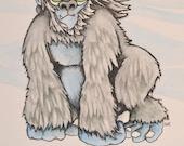 """Monster Painting """"Yeti"""""""