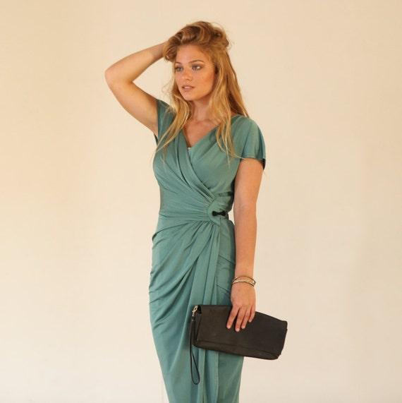 Items Similar To Green Wrap Dress Convertible Infinity Wrap