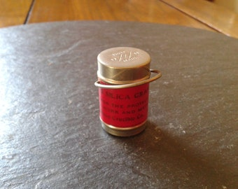 1909 Joseph Dixon Crucible Co vintage mini sample empty red paint can industrial history miniature doll collector Halloween birthday gift