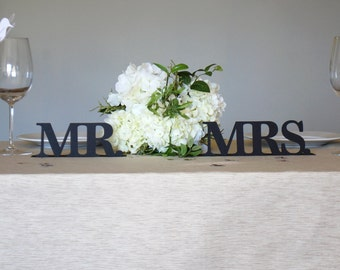 Mr & Mrs Stand-Up Table Sign Set  (Made of card stock paper)