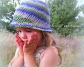 CUSTOM Girls Crochet Cloche with Flower Boutique Baby Cloche Hat MADE to ORDER