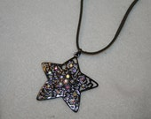 Rhinestone Encrusted Star Necklace