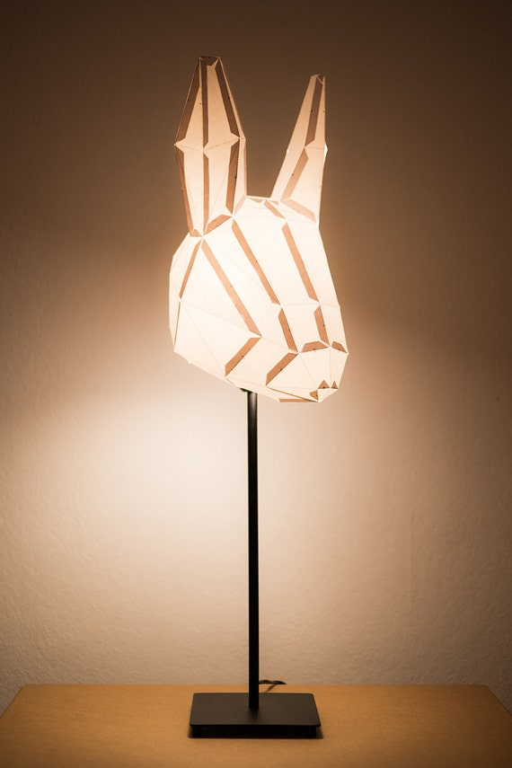 RABBIT MEDIUM / do it yourself paper lamp shade