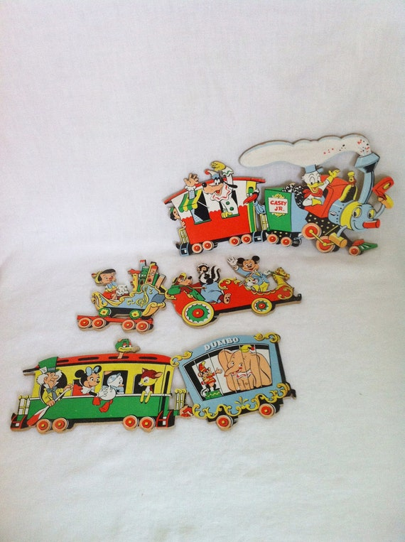 Vintage Disney Character Train Nursery Wall Hanging Dolly Toy