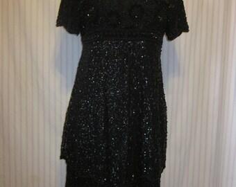 Black Dress Beaded Vintage