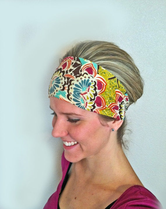 Ethnic Floral Wide Headband Fabric Head Band Women S By