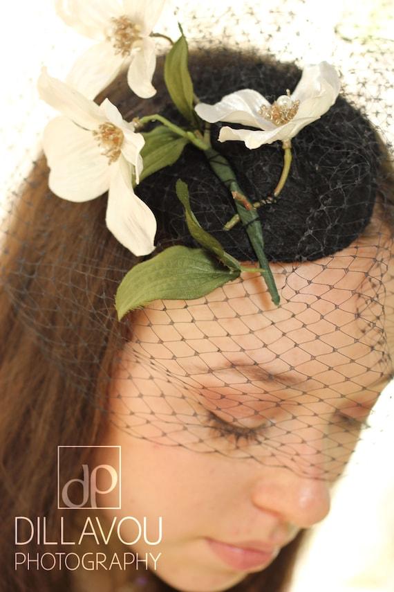 Vintage Inspired Floral Fascinator