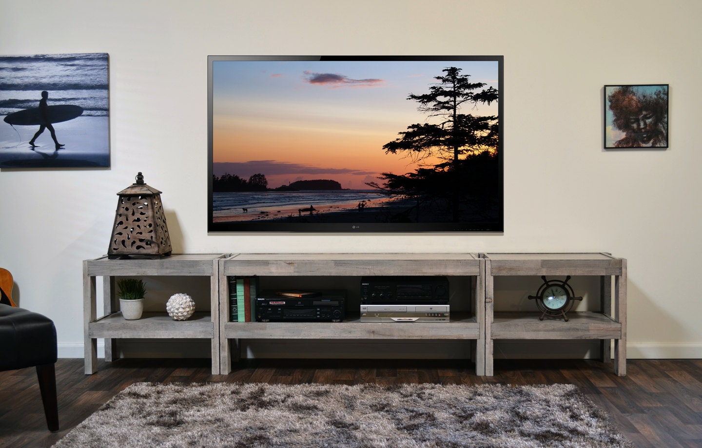 Wood Pallet Entertainment Center Plans DIY Free