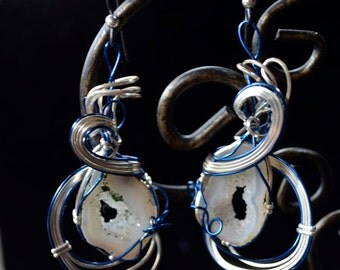 Silver and Blue Geode (JSE005)