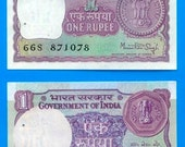 Rupee Banknotes from India  -  Collage, Altered Books, Decoupage, Scrapbooking