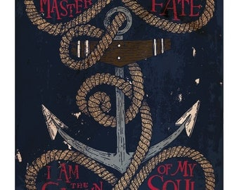 Invictus, by William Ernest Henley poster.