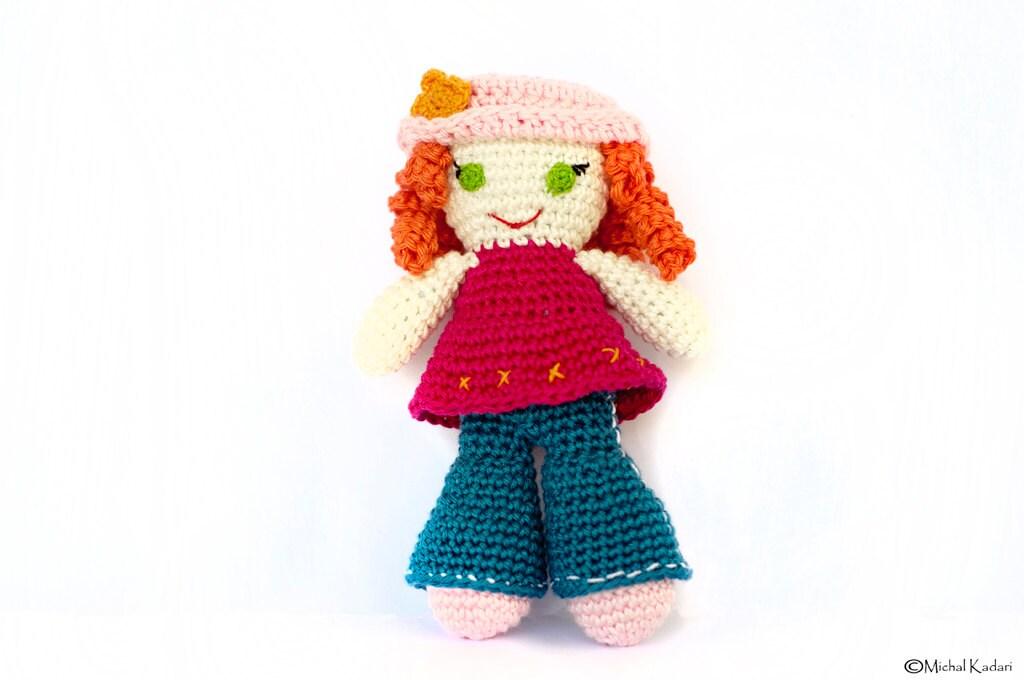 Amigurumi Girl Tutorial : Crochet Doll Pattern Instant Download Amigurumi Tutorial ...