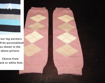 MAUVE ARGYLE baby leg warmers.  Great for babies, toddlers, and young kids