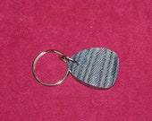Denim-glass Key Chain Fob (127)