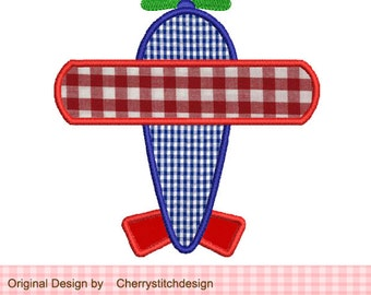 Airplane Applique 1- 4x4 5x7 Machine Embroidery Applique Design