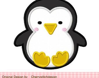 "Penguin Baby Penguin Machine Embroidery Applique Design- 4x4 5x5 6x6"""